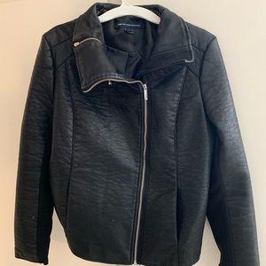 """""""Leather"""" Zip Jacket"""